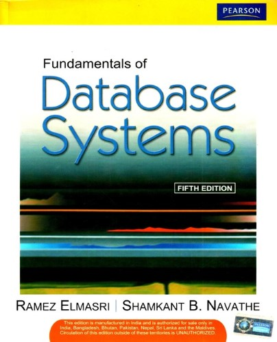 Fundamentals of Database Systems 5 Edition image